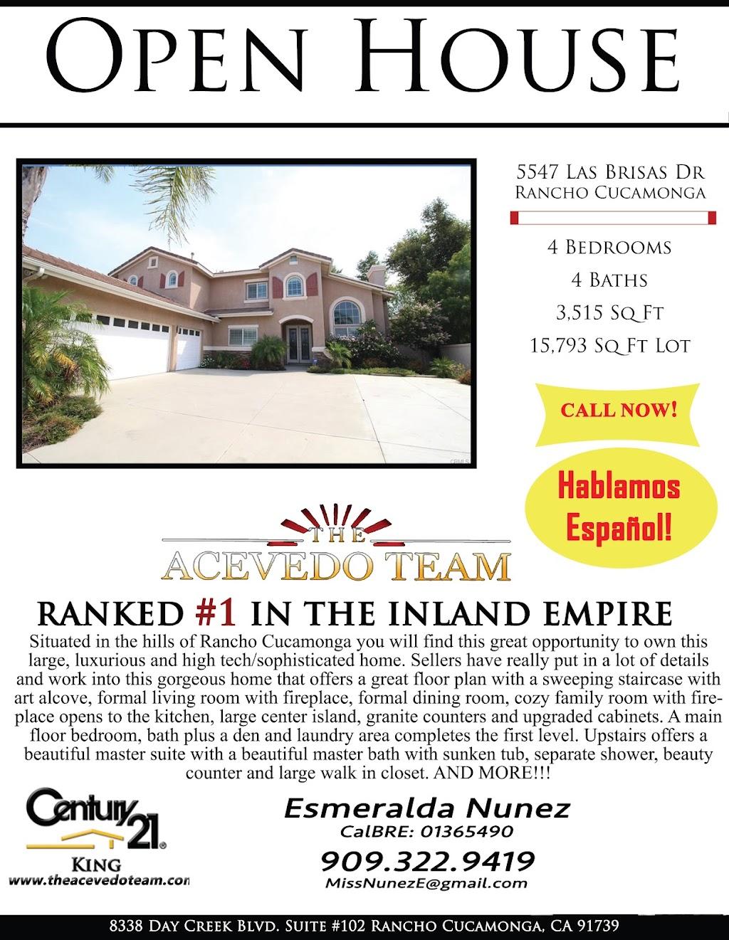Esmeralda Nunez Century 21 King The Acevedo Team - real estate agency  | Photo 9 of 10 | Address: 8338 Day Creek Blvd Ste 102, Rancho Cucamonga, CA 91739, USA | Phone: (909) 758-4840