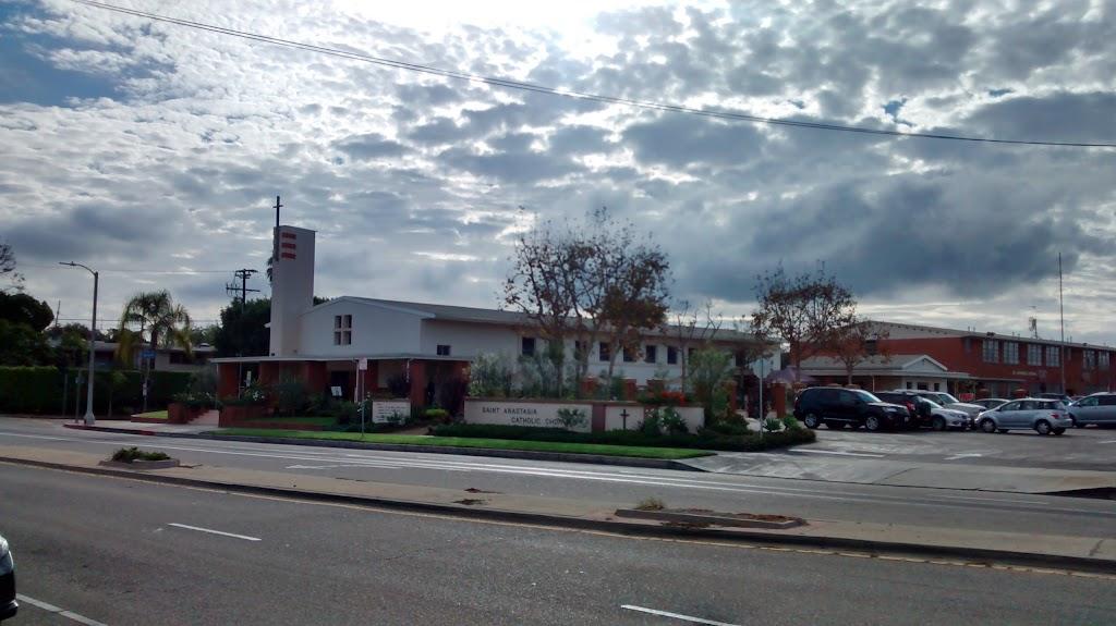 St Anastasias Catholic Church - church    Photo 8 of 10   Address: 7390 W Manchester Ave, Los Angeles, CA 90045, USA   Phone: (310) 670-2243