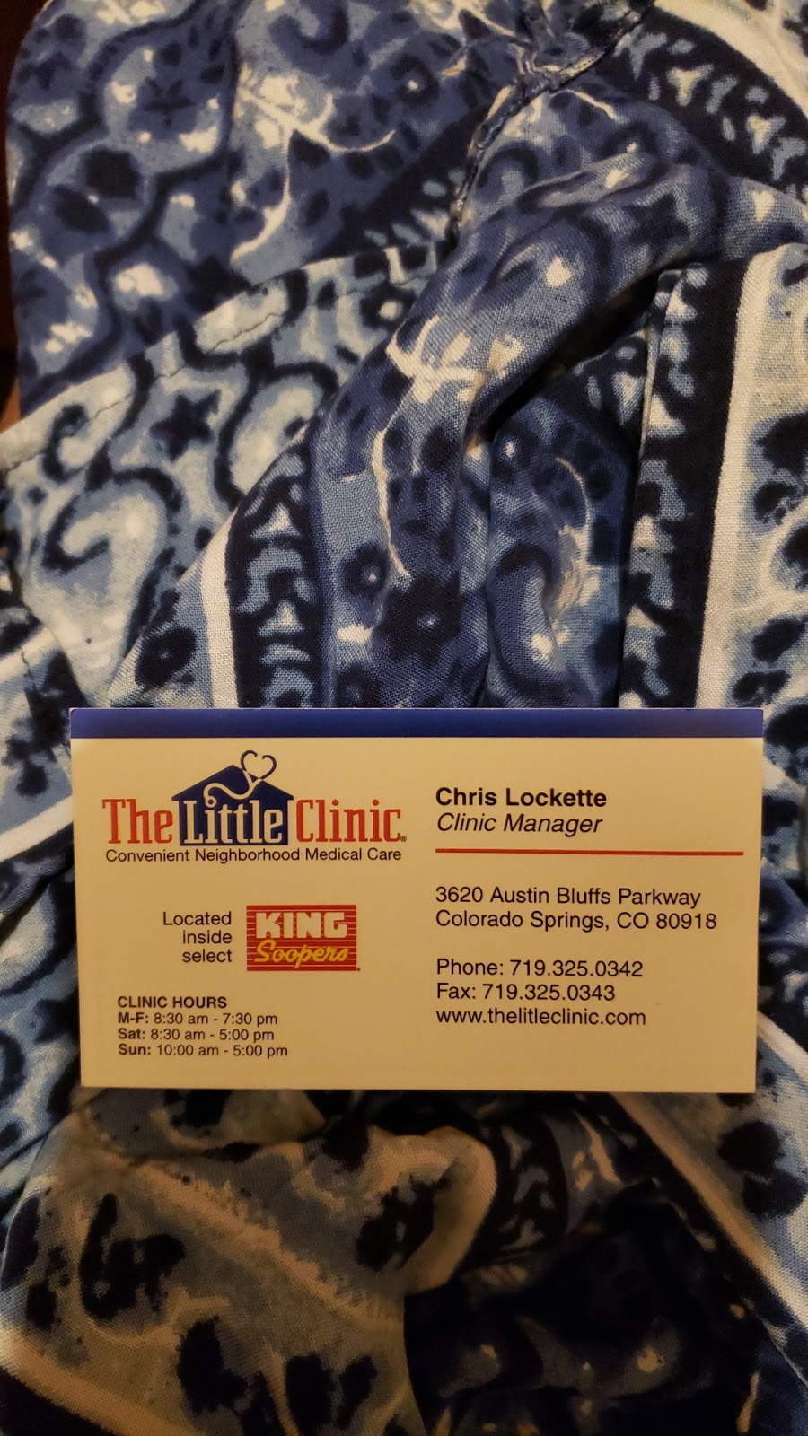 The Little Clinic - pharmacy  | Photo 2 of 3 | Address: 3620 Austin Bluffs Pkwy, Colorado Springs, CO 80918, USA | Phone: (719) 325-0342