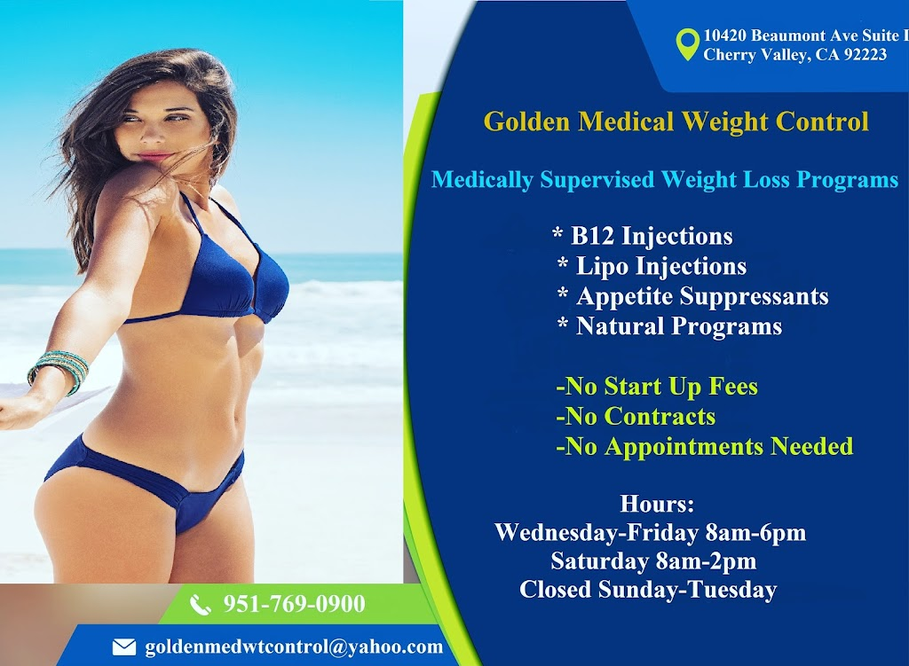 Golden Medical Weight Control - spa  | Photo 3 of 10 | Address: 10420 Beaumont Ave ste i, Cherry Valley, CA 92223, USA | Phone: (951) 769-0900