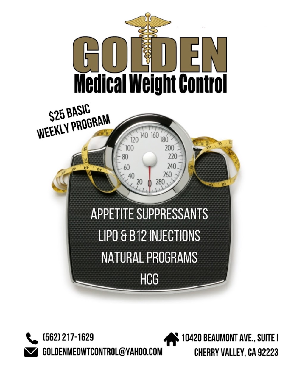 Golden Medical Weight Control - spa  | Photo 1 of 10 | Address: 10420 Beaumont Ave ste i, Cherry Valley, CA 92223, USA | Phone: (951) 769-0900