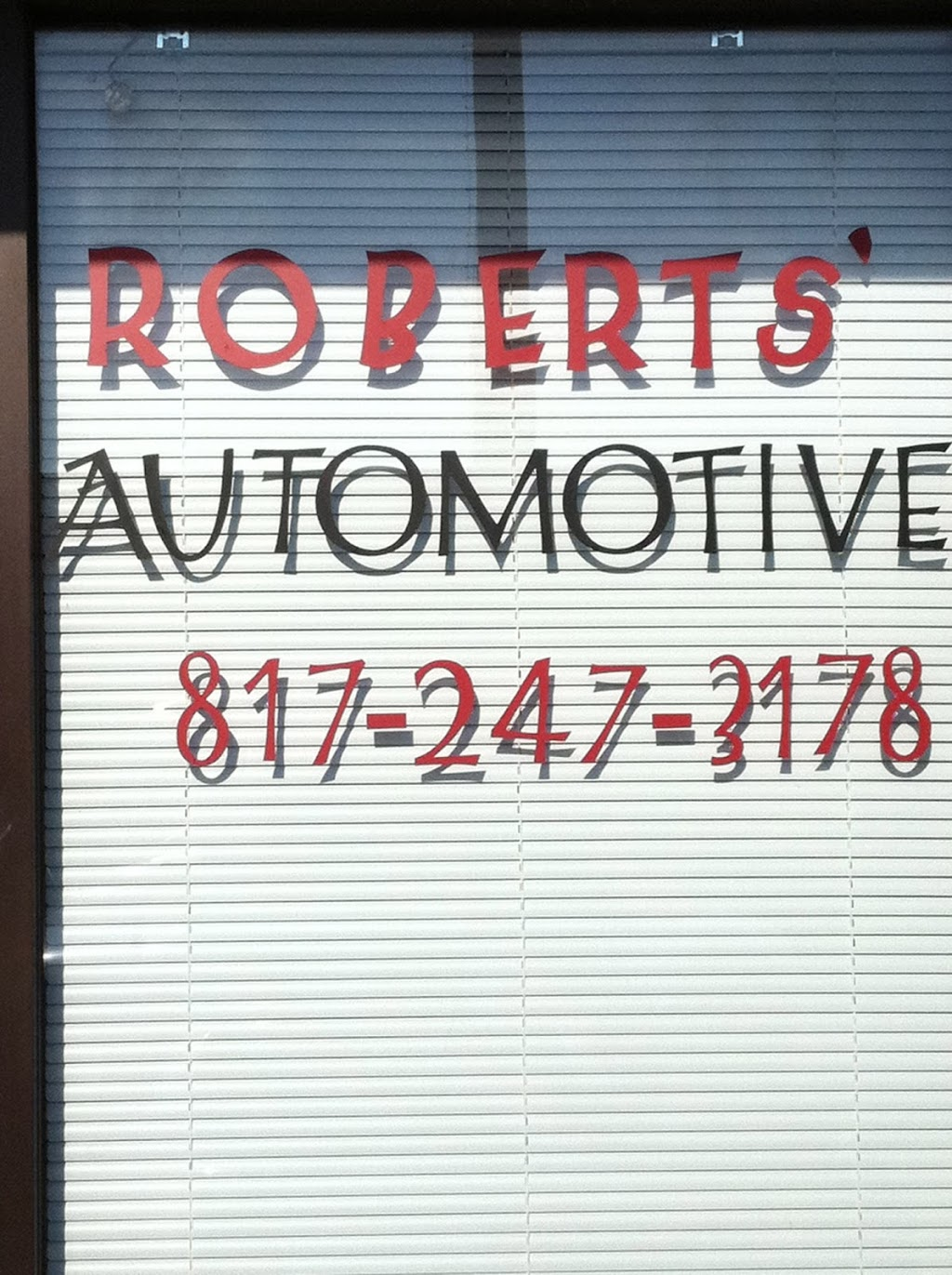 Roberts Automotive - car repair  | Photo 1 of 1 | Address: 8851 West Fwy #103, Fort Worth, TX 76116, USA | Phone: (817) 247-3178