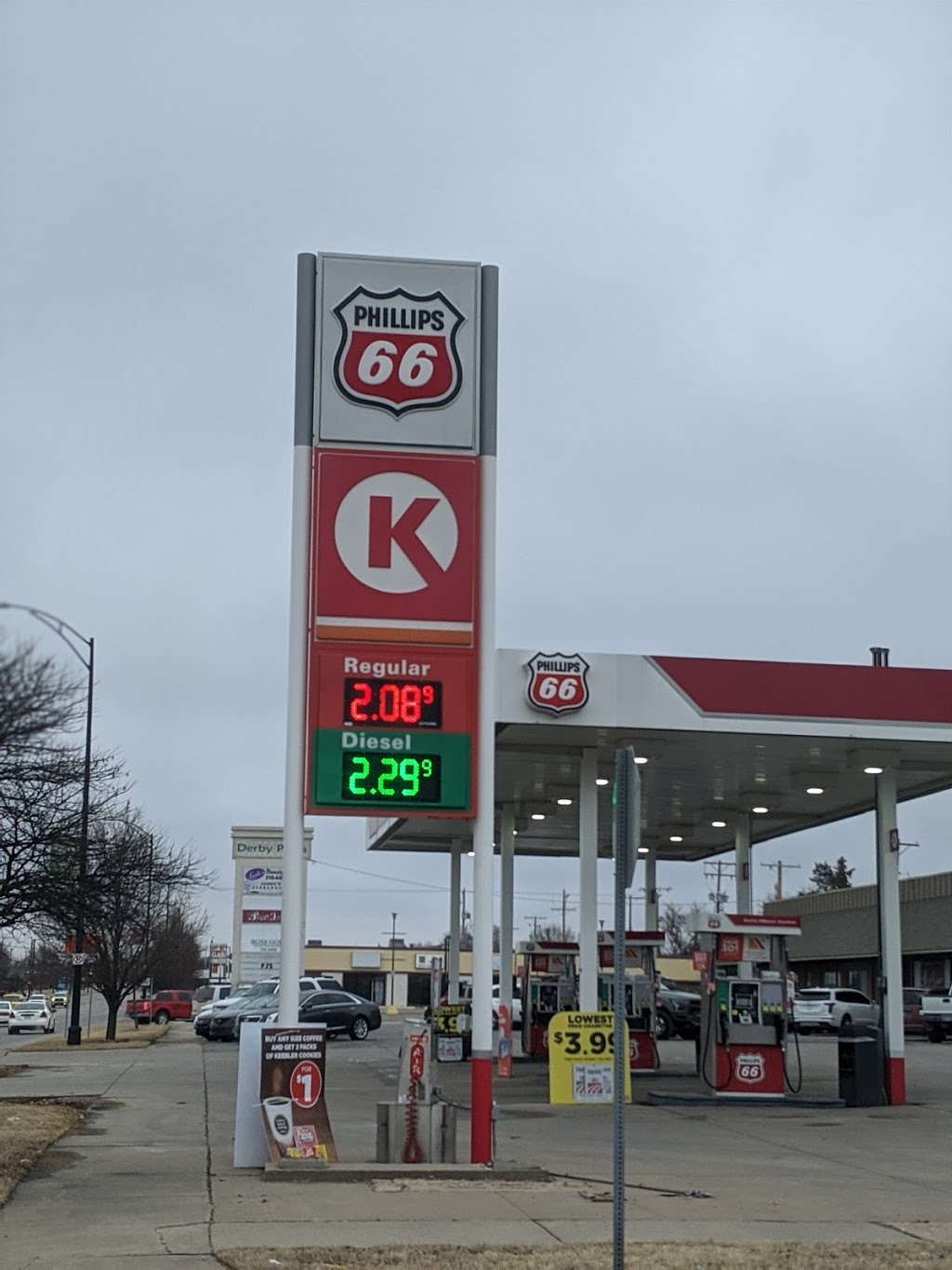 Phillips 66 - gas station  | Photo 1 of 4 | Address: 230 S Baltimore Ave, Derby, KS 67037, USA | Phone: (316) 788-5650