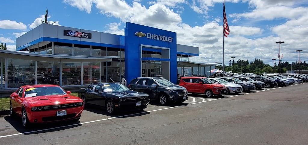 Dicks Hillsboro Chevrolet - car dealer    Photo 1 of 10   Address: 1084 SW Oak St, Hillsboro, OR 97123, USA   Phone: (971) 254-2463