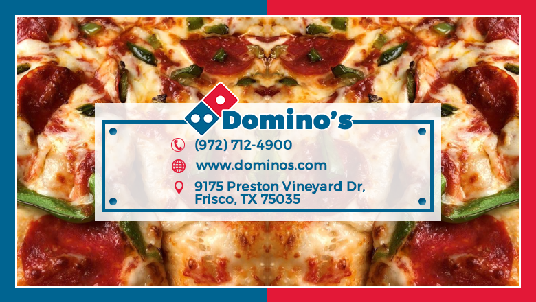Dominos Pizza - meal delivery  | Photo 3 of 10 | Address: 9175 Preston Vineyard Dr, Frisco, TX 75035, USA | Phone: (972) 712-4900